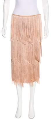 Tom Ford Fringe Knee-Length Skirt w/ Tags