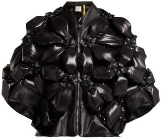 Noir Kei Ninomiya 6 Moncler Flower Padded Jacket - Womens - Black