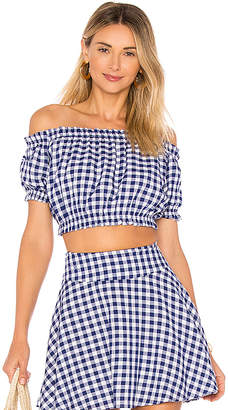 L'Academie The Ruffle Crop Top