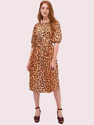 Kate Spade Panthera Puff Sleeve Dress, Neutral - Size 0