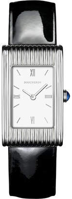 Boucheron Reflet medium stainless steel and sapphire cabochon watch