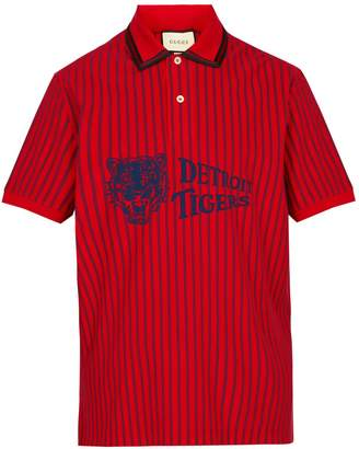 Gucci Detroit Tigers-print cotton-piqué polo shirt