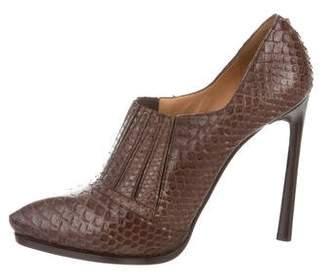 Lanvin Snakeskin High-Heel Booties