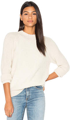 AYNI Alaya Crew Neck Sweater in Cream $209 thestylecure.com