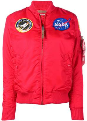 Alpha Industries NASA patch detail bomber jacket