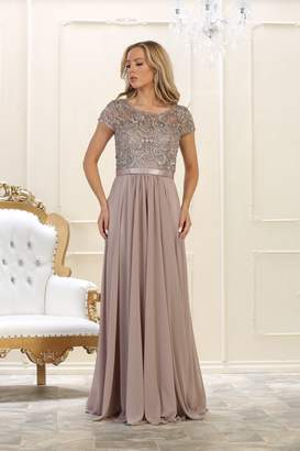 May Queen Mocha Long Dress