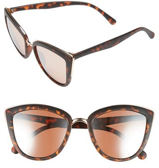 Junior Women's Bp. 55Mm Metal Rim Cat Eye Sunglasses - Rose Gold/ Tort $12 thestylecure.com