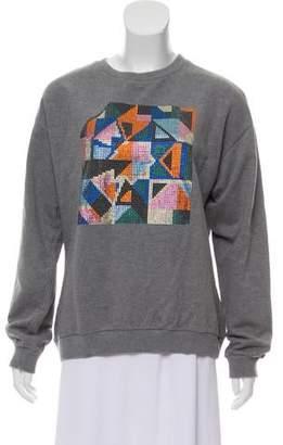Christopher Kane Embellished Long Sleeve Sweater