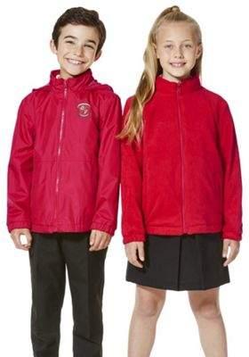 F&F Unisex Embroidered Reversible School Fleece Jacket 9-10 yrs