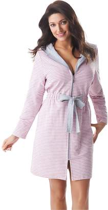 Bathrobe by Dorothy Women Zip Up Hooded Bathrobe Dressing Gown Housecoat f4a85971d