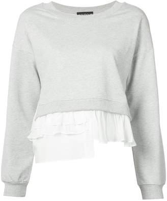 Moschino ruffle-trimmed sweatshirt