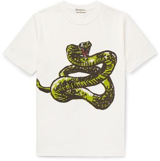 Balenciaga Slim-Fit Printed Cotton-Jersey T-Shirt $275 thestylecure.com