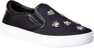 Christian Dior Embellished Leather Sneaker