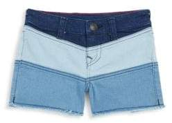 True Religion Girl's Joey Colorblock Denim Shorts