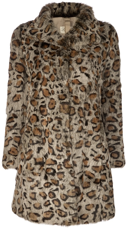LE SENTIER rabbit fur coat