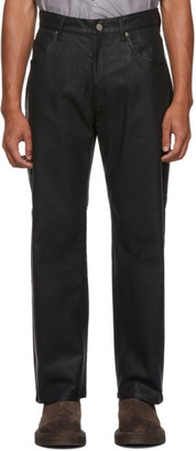 Keenkee Black Coated Straight Jeans
