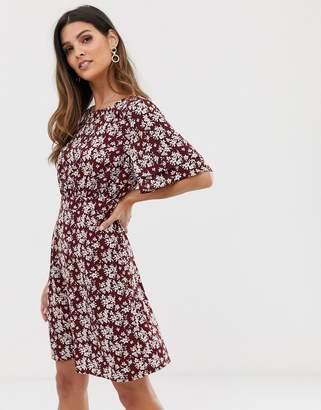 Vila boho floral tea dress
