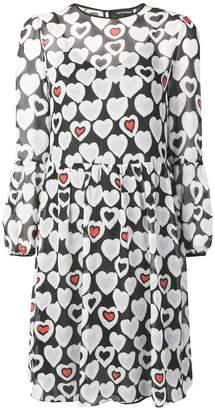 Emporio Armani hearts print dress