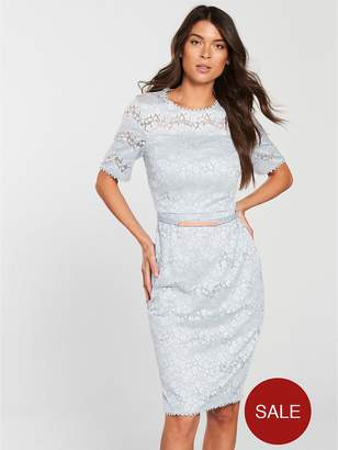 Phase Eight Gerda Lace Dress - Pale Blue
