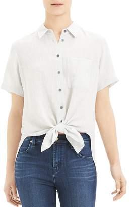 Theory Hekanina Tie-Front Shirt