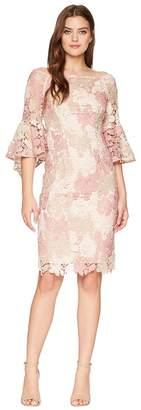 Tahari ASL Lace Boat Neck Sheath Dress Women's Dress