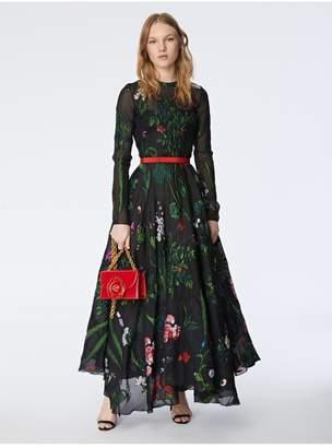 Oscar de la Renta Botanical Fil Coupe Cocktail Dress