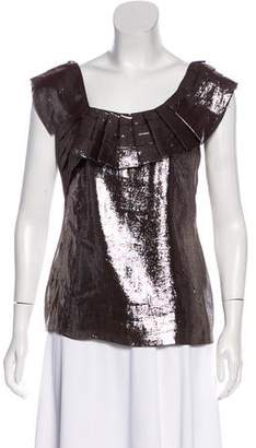 Yoana Baraschi Metallic Silk-Blend Top