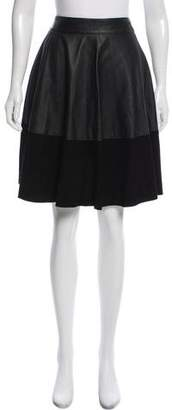 Temperley London Leather A-Line Skirt