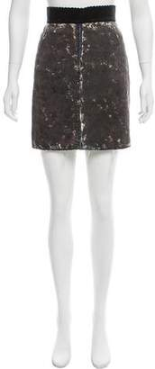 Dolce & Gabbana Distressed Denim Mini Skirt