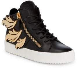 Giuseppe Zanotti Feather High-Top Leather Sneakers