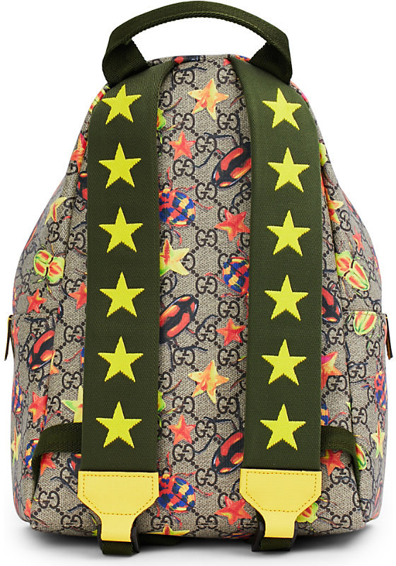 Gucci Bug supreme canvas backpack 4