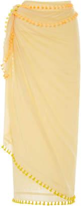 Matta Fluo Tasseled Cotton and Silk-Blend Sarong