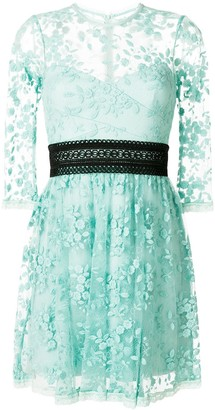 Three floor Reflection lace empire dress