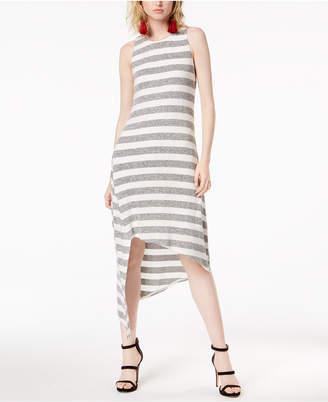 Bar III Asymmetrical-Hem Striped Tank Dress, Created for Macy's