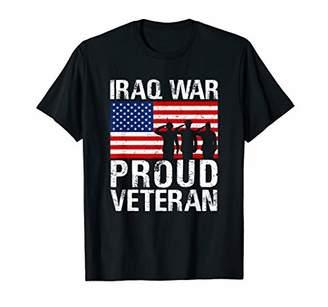 Proud Iraq War Veteran graphic Gift for Military Men Women T-Shirt