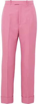Gucci Twill Straight-leg Pants - Pink