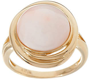 QVC Angel Skin Coral Ring, 14K Gold