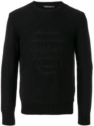 Alexander McQueen Black skull embossed knitted sweater