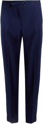 Stella McCartney Buckle-detail wide-leg wool trousers