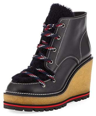 Moncler Zelie Wedge Platform Boot