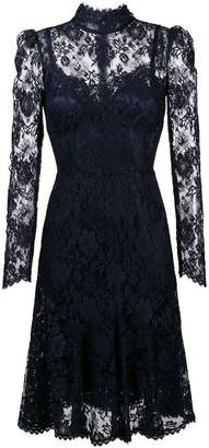 Dolce & Gabbana high neck lace midi dress