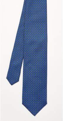 J.Mclaughlin Italian Silk Tie in Geo Link