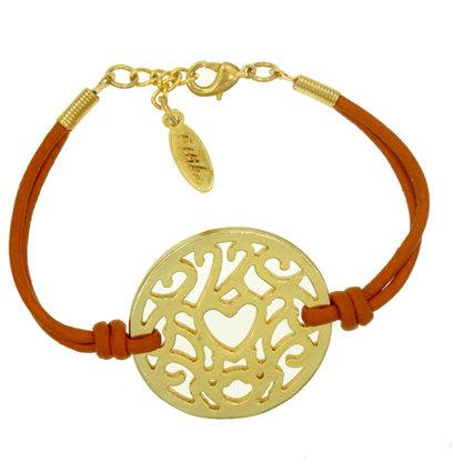 Ettika Heart Lace Coin Bracelet