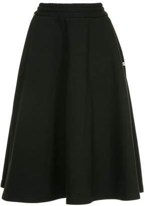 MSGM A-line midi track skirt