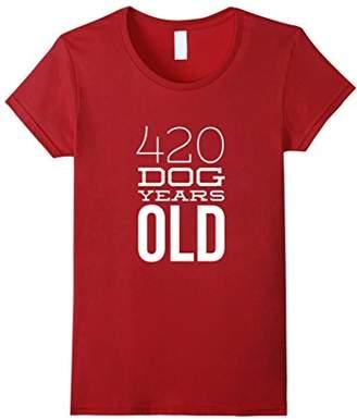 420 Dog Years Old Funny 60th Birthday Gift TShirt