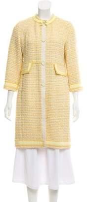 Marc Jacobs Tweed Knee-Length Coat