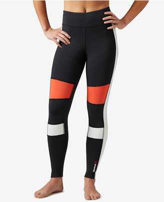 Reebok Speedwick Colorblocked Leggings $65 thestylecure.com