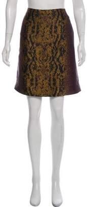 Dries Van Noten Silk-Blend Printed Skirt
