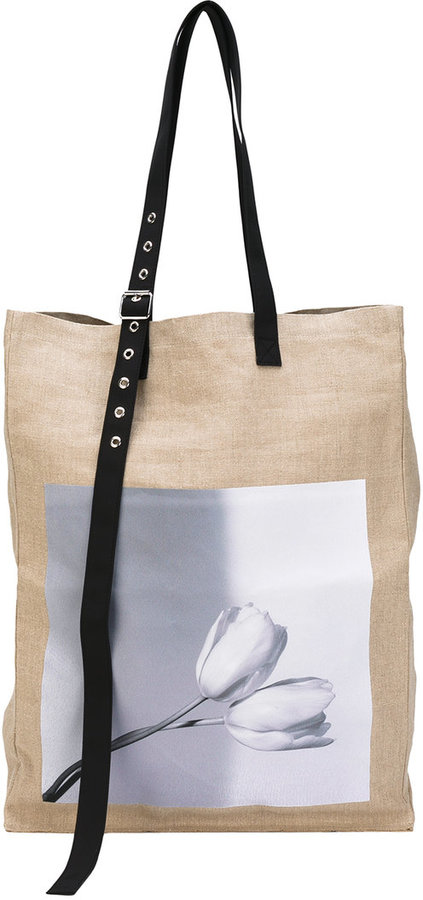 Raf Simons Raf Simons large photographic tote bag