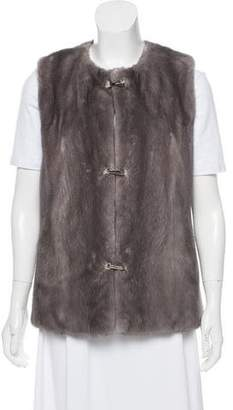 Fur Scoop Neck Fur Vest